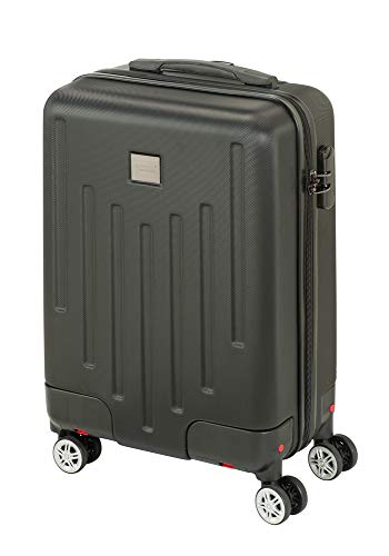 Princess Traveller Detroit Retractable Wheels Traveller koffer, 46 liter, zwart
