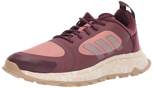 adidas Women's Response Trail X Running Shoe, Maroon/Linen/raw Pink, 7.5 M US