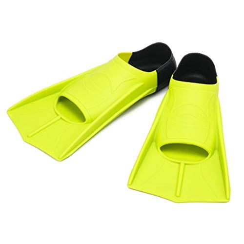 QinWenYan Aletas de Buceo Pato Web Freestyle Aletas Hombres y Mujeres Profesionales Snorkel Aletas Ligera Equipo de Snorkeling para Bucear (Color : Verde, Size : 32cm)