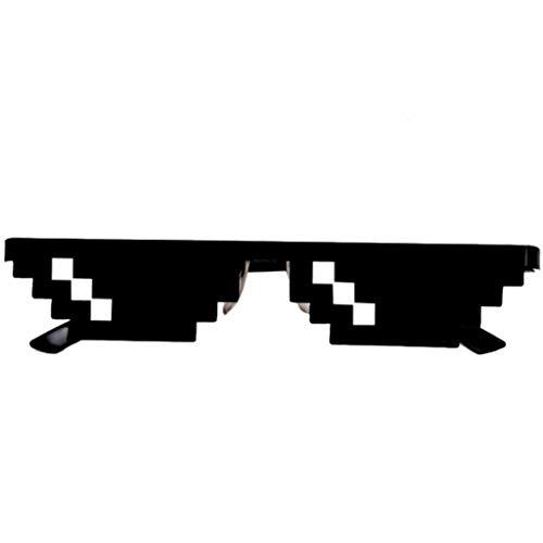 HAPPYX Mosaik Sunglasses, Sonnenbrille Sie Sich mit 8 Bit Pixel, Unisex Sonnenbrille Spielzeug, Stil MLG Schattierungen (Style C)