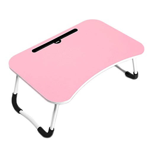 AMRT Folding table Adjustable Laptop Bed Stand Portable Standing Table With Foldable Legs For Sofa Couch Floor Multipurpose Folding table (Color : Pink, Size : 40 * 60 * 28cm)