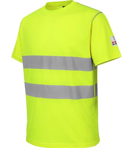 WÜRTH MODYF Tee-Shirt de Travail microporeux Haute-visibilité Jaune - Taille L