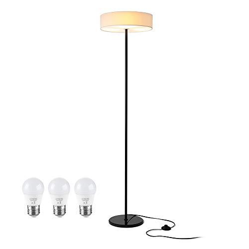 Zanflare Lámpara de Pie Led, 3 bombilla, 9W, altura 160cm, Lámpara de Pie para Salón, Lámpara para Dormitorio, Oficina, Lámpara Ambiental de Salón de Larga Duración, Diseño ModernoBajo, Consumo