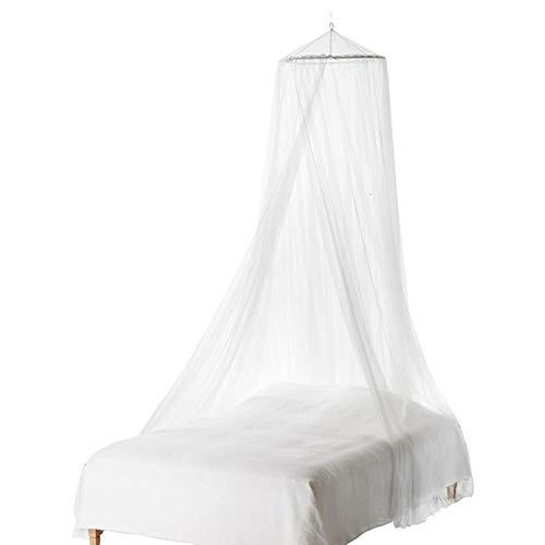 Moskitonetz Bett, 0,60 m x 2,5 m Dome Netting Vorhänge Abweisend Zelt für Reise und Zuhause, Moskitonetz Doppelbett Mückennetz Fliegennetz Baldachin schützt vor Insekten Malaria Insektenschutz