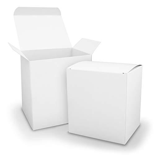 25x itenga Würfelbox XL aus Karton 11x9x12cm weiß Gastgeschenk große Adventkskalenderboxen