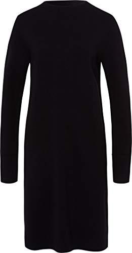 BRAX Damen Style Emely Full Rib Rollkragen Kleid, Black, (Herstellergröße: 42)