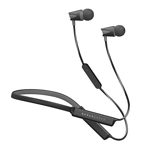 Boult Audio ProBass Groove Neckband in-Ear Wireless Earphones with 16 Hours Playtime,IPX5 Sweatproof Headphones, Latest Bluetooth 5.0 & Flexible Headset with in-Built Microphone (Grey)