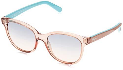 Ferragamo SF834S Gafas de Sol, Transparente (Transparente), 55.0 para Mujer