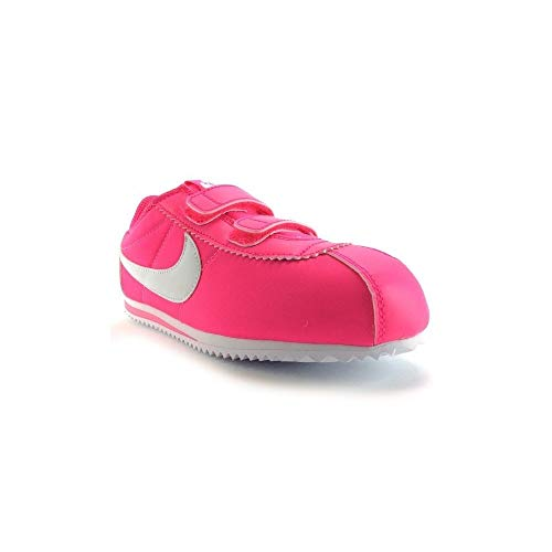Nike Cortez Nylon (PSV), Zapatillas de Deporte para Niñas, Rosa/Blanco (Hyper Pink/White), 32 EU
