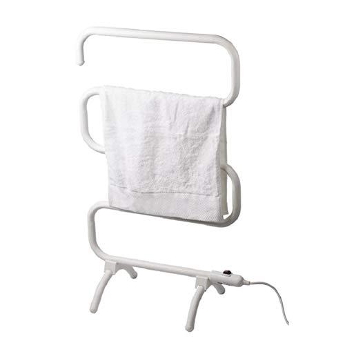 EEUK Qradiador toallero Agua calefaccion Blanco, Toallero Eléctrico de Pie o Pared (5 Barras) 100W radiador electrico bajo Consumo pie ORcalefactorUK Plug