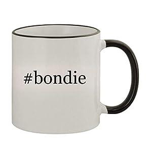 #bondie – 11oz Ceramic Colored Rim & Handle Coffee Mug, Black
