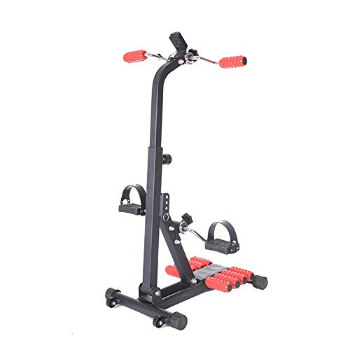 XBSLJ Mini Exercise Bike Adjustable Pedal Exerciser with Massage Roller, Arm Leg Exercise Peddler Machine Indoor Fitness Bicycle Physical Therapy Machine for Seniors and Elderly