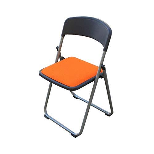Chaise d'ordinateur Chaise Pliante Réunion de Bureau Chaise de réception de selles Formation Orange Mesh Rembourré PENGJIE