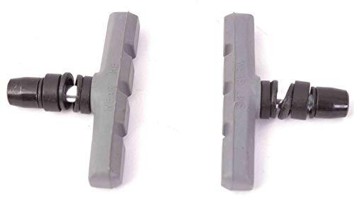 KHE Acme BMX Brake Shoes with Thread U-Brake V-Brake Adjustable Grey T28