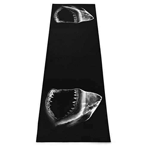 Toalla De Yoga Antideslizante,Cabeza De Tiburón Negro Colchoneta Ecológica Para Ejercicios De Fitness Para Entrenamiento Y Hogar,Colchoneta De Gimnasia,Ejercicios De Suelo Y Colchoneta De Fitness P