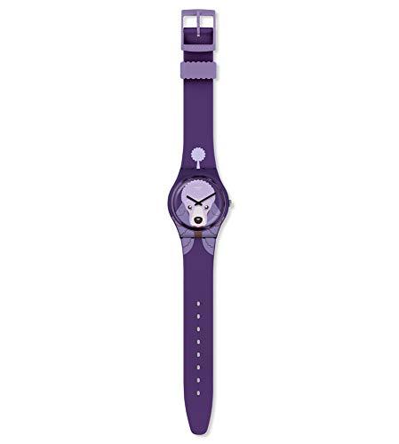 Swatch Damen Analog Schweizer Quarz Uhr mit Silicone Armband GV133