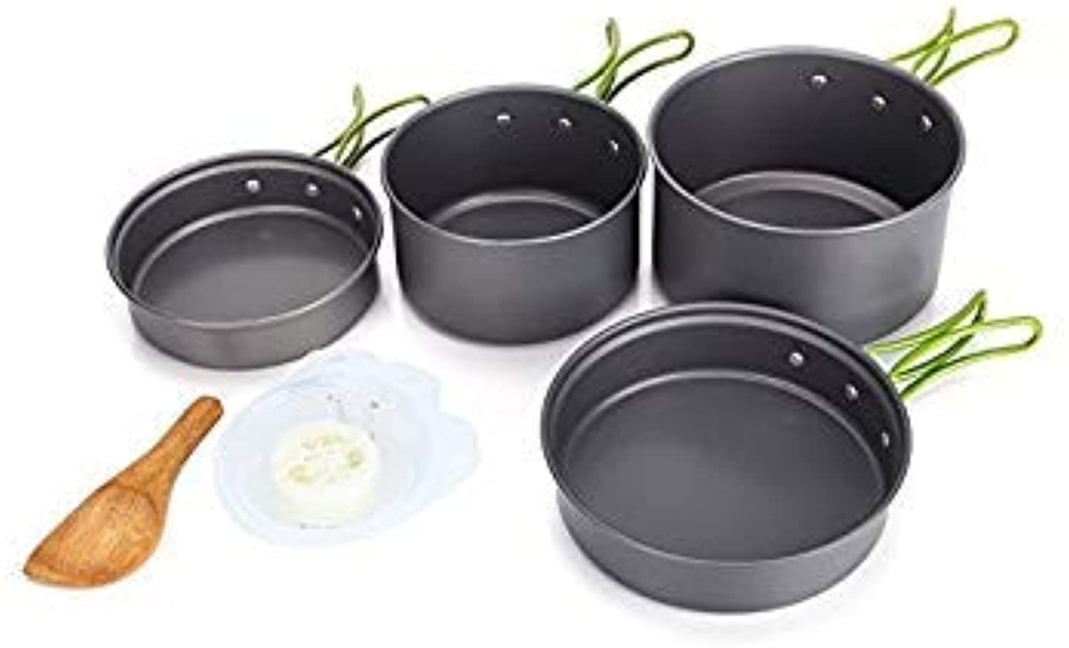 GEOPONICS Outdoor Portable 23 Persons Cooking Pot Bowl Pan Set Camping Picnic Tableware Cookware