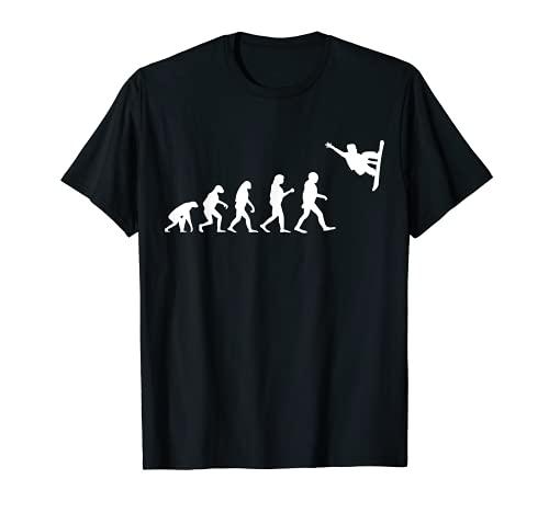 Evolución snowboarder freestyle snowboard freeride Camiseta