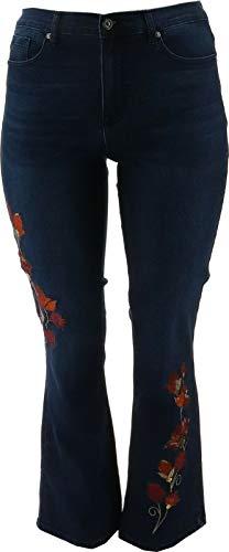 DG2 Diane Gilman Stretch Embellished Boot-Cut Jean Midtone 12 New 717-060