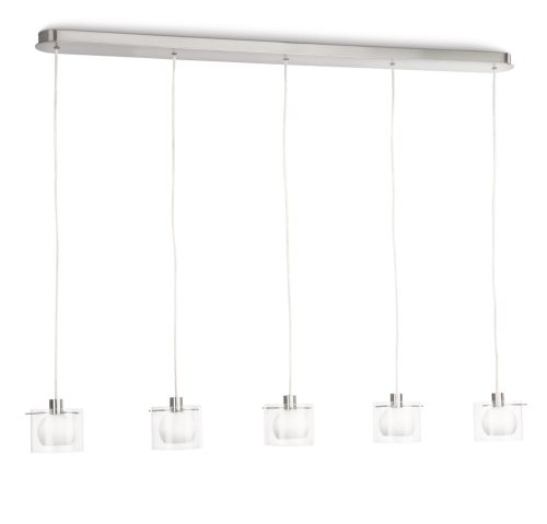 Philips Lampe Suspension 5 x 28 w Rod Transparent 150 x 109,9 x 11 cm