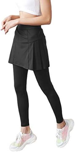 Joy Apparel Pleated Skirt Leggings for Women Tennis Golf Running Workout Dance Yoga Pants Junior product image