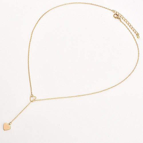 FHBDFJT Mooie Avatar Ketting Hanger Ketting Hart Liefde Dames Ketting met Eenvoudige Verkoop Sieraden Goud, Goud