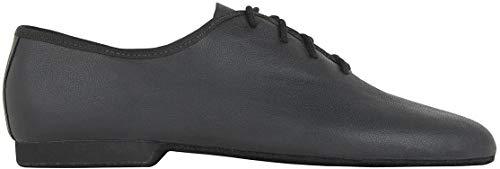 Rumpf Schuhe Jazz Basic I 1260Tanzschuhe aus Leder, Jazz Swing Ballett Lindy Hop SG Sport Fitness Yoga Pro, Schwarz - schwarz/schwarz - Größe: UK 9.5 / EU 44