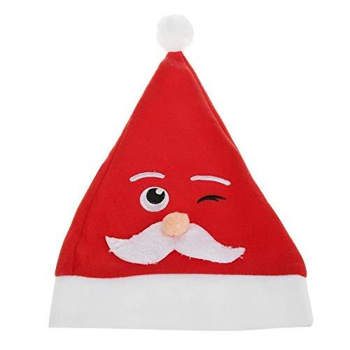 Bureze - Chapeaux de Noël Mignons - Décoration de Noël - Père Noël - pour Enfants, Femmes, Hommes, Filles, garçons, Filles - Accessoires de fête de Noël