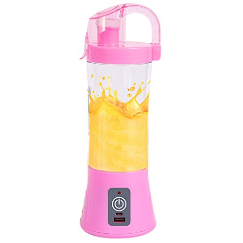 LIANGANAN Juicer 450ml Portable Blender USB Rechargeable Electric Automatic Vegetable Fruit Citrus Orange Juice Maker Cup Mixer Green zhuang94 (Color : Pink)