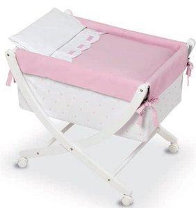 Bimbi Class – Bébé, 68 x 83 x 76 cm, blanc et rose