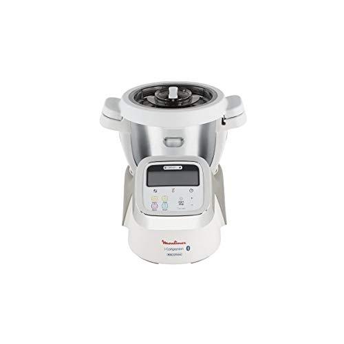Moulinex Robot Cuiseur Connecté I-Companion XL Gris 1550W 4,5L HF906B10