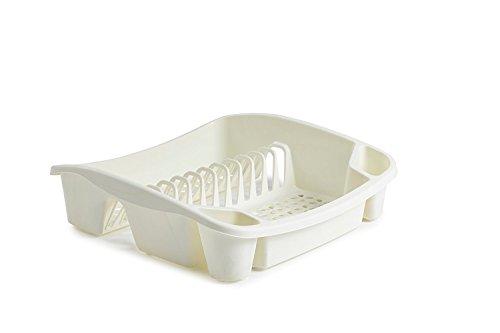 Whitefurze Égouttoir à Vaisselle, Plastique, crème, Petite
