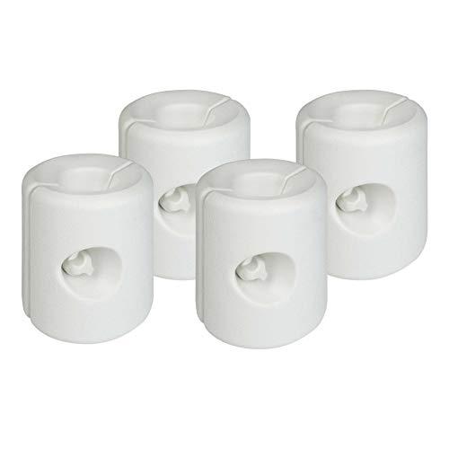 Aktive 62201 - Confezione 4 supporti bianchi per gazebo 25 x 25 x 25 cm Garden