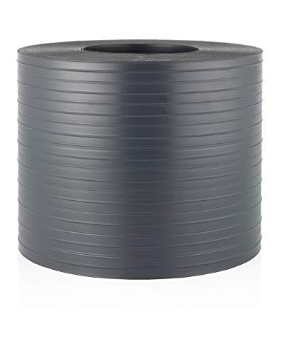 Quest Hart-PVC Sichtschutzstreifen für Doppelstabmatten Zaunblende Kunststoff | 26m x 19cm | Sichtschutz Windschutz Garten Gartenzaun (Anthrazit)