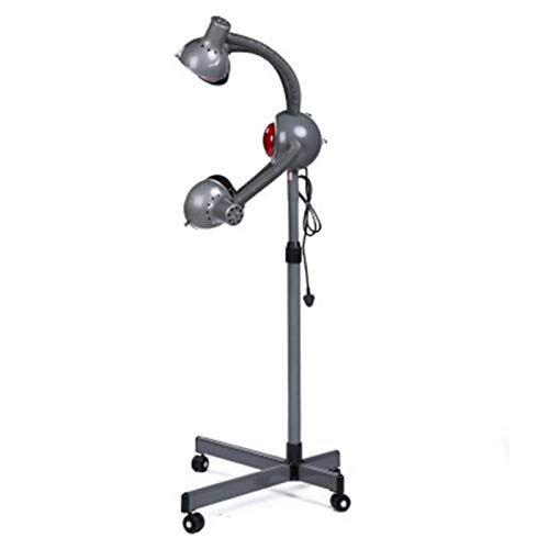OMVOVSO Lámpara Calor Infrarrojo,Procesador Cabeza del Color del Pelo La Luz Roja LED Stand Up Secador Pelo Peluquería Acelerador Salón Belleza Equipo Terapia,Negro
