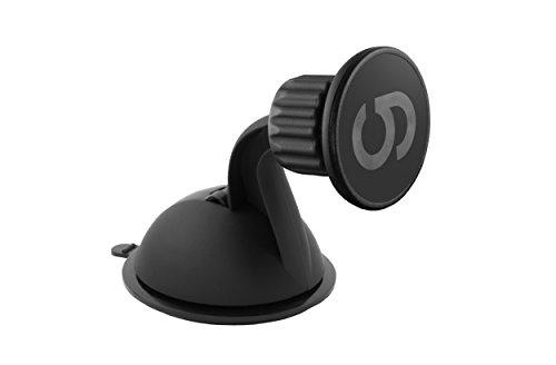 grooveclip Dash Magnet - Auto KFZ-Halterung mit Magnet Smartphone Magnethalterung für Windschutzscheibe und Armaturenbrett mit Gel-Pad Saugnapf für iPhone Samsung LG Sony Huawei Xiaomi OnePlus HTC