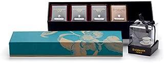 Dammann Freres Allures Voyages Collection, Allures Box Set, 120g of Assorted Tea, Includes Pomme D'Amour, Nuit à Versailles, N°3 Jardin Bleu & N°501 Week-End à Paris, Blue Gift Set, 120g