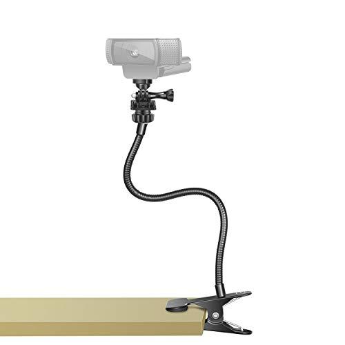 Neewer Soporte Cámara Web Soporte Flexible Cuello Cisne con Abrazadera Sujeción Escritorio Soporte Compatible con Cámara Web Logitech C925e C922x C922 C930e C930 GoPro Hero 8/7/6/5 Arlo Ultra Pro 2/3