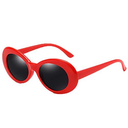 Nuevo Temperamento Little Girl Oval Retro Gafas de sol polarizadas Gafas de sol de protección contra el viento y los rayos UV al aire libre
