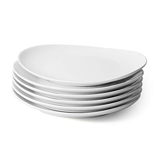 Sweese 150.001 Porcelain Dinner Plates - 11 Inch - Set of 6, White