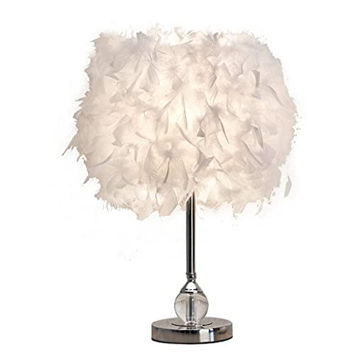 MOZUSA Iluminación decorativa, Reading lámpara- de noche y lámparas de mesa Pluma Tabla dormitorio de la lámpara lámpara de cabecera moderna simple caliente romántico del boda del hogar de la luz de l
