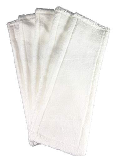 1a Profiline Microfasermopp Ultra weiss mit Taschen 50 cm (5 Stück) Wischbezug Wischmopp Bodenwischer Mikrofaser Mopp