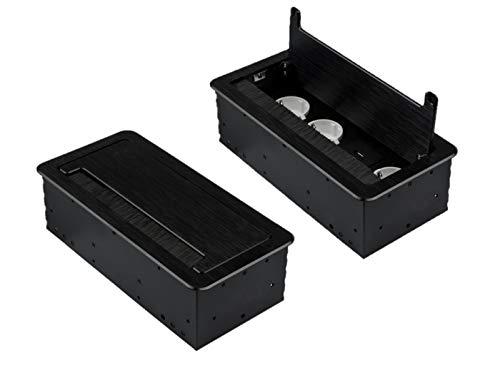M1362 - Einbausteckdose mit USB in verschiedenen Größen und Farben (3er / 2x USB/schwarz)