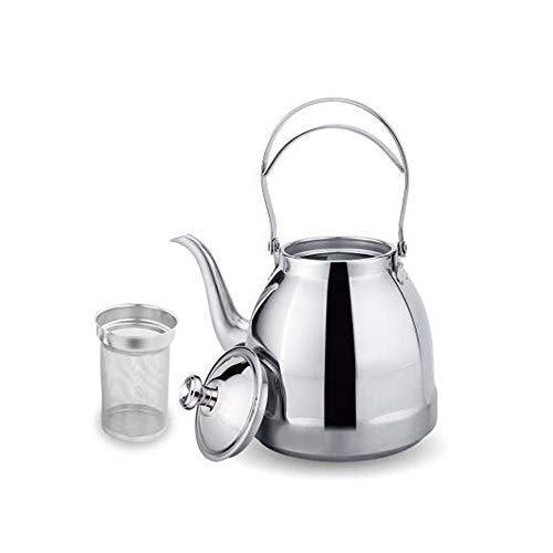 XIAONINGMENG Wählen Sie wunderschöne Teekannen - Edelstahl-Kocher Teekanne Schnellster kochender Spiegel Komplette chirurgische Edelstahl-Teekanne (Color : Bright Silver, Size : 13.4cm*23cm)