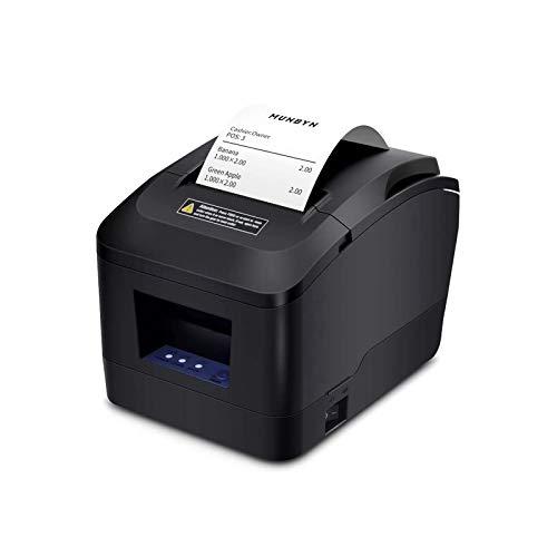 Thermodrucker Munbyn 80mm Bondrucker USB Anschluss Ticketdrucker Quittungsdrucker ESC/POS NVLOGO Print Unterstützt, Auto-Cut Überhitzungsschutz 200mm/s Eingestellt-EU Printer Schwarz Update 2019