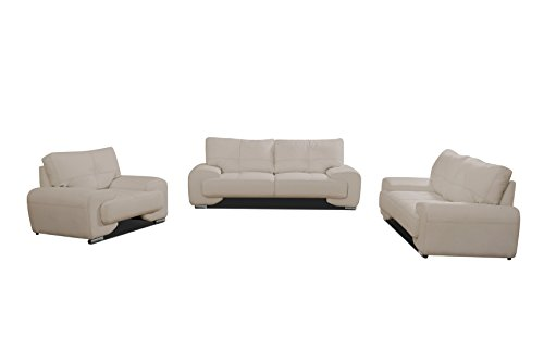 mb-moebel Polstergarnitur Sofa Set 3er & 2er & Sessel 3-2-1 Wohnlandschaft 3-Sitzer und 2-Sitzer Möbel Set - Florida LUX (Cappuccino)