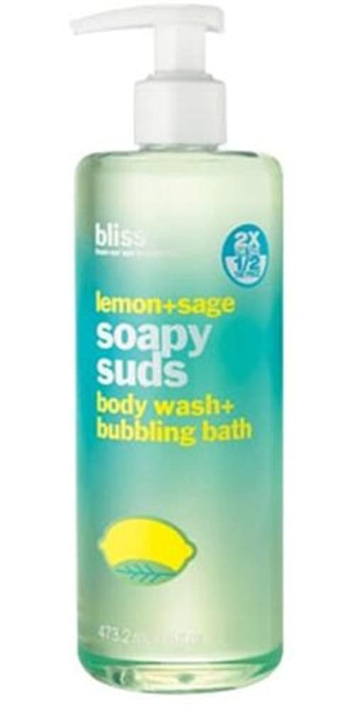 ベテラン土砂降りわなBliss Lemon-sage Soapy Suds Body Wash-bubbling Bath (並行輸入品) [並行輸入品]
