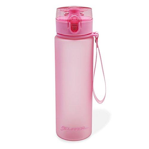 MELIANDA MA-7300 Trinkflasche Wasserflasche 550ml Nylon Handschlaufe pink