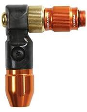 Lezyne ABS-1 Pro HV Chuck pompkop Schrader en Presta, voor High Volume Broek, oranje-glanzend, 1-ABS1P-CHUCK-V220 staande luchtpomp, One Size