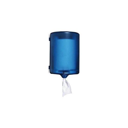 Q-Connect 936164 - Dispensador de toallas (225 x 275 x 220 mm, cierre con 2 llaves), color azul